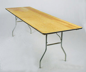 Image of a 8 ft Banquet Table 30x96 inches